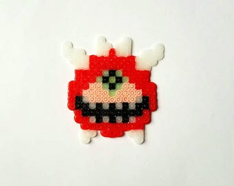 Doom Cacodemon | Glow in the Dark | Perler Beads | Fuse Beads | Doom Video Game Pixel Art | As Is, Keychain or Magnet