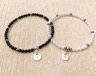 SALE! Personalized couples bracelet set couples gift couples jewelry gifts for couples men's gift for men bracelet gift for her gift for him