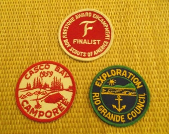 Lot of 3 Vintage Boy Scout Patches