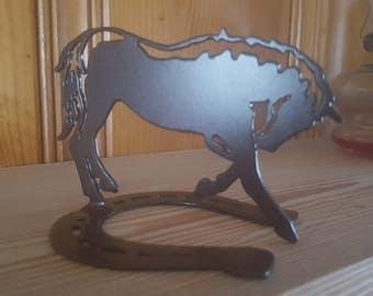 Horse Figurine,Custom Horse Decor,Metal Art,Metal Cut Horse Art,Horse Lover,Barn Art,Farm Metal Art,Plasma Cut,Farm Animal Figurine