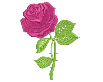 Rose flower: Machine embroidery design