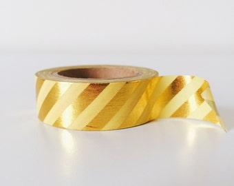Lemon and gold shinny washi tape