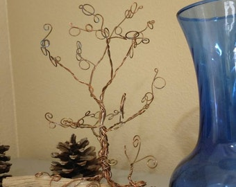 Copper Wire Tree on Driftwood