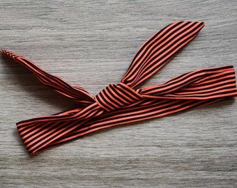 Striped headband -Wire headband - Headband for her-Dolly hair wrap-Gair accessories-Adult headband women -halloween headband-Pin up headband