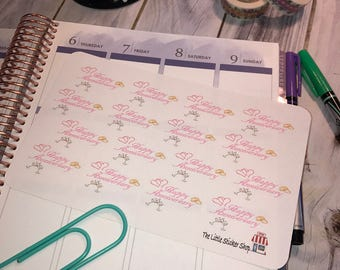 Anniversary stickers. Perfect for any planner!