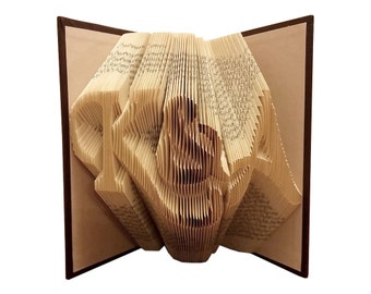 Folded Book Art - Anniversary Gift - Wedding Gift - Couples Gift - Paper Anniversary - 1st Anniversary Gift - Wedding Decorations