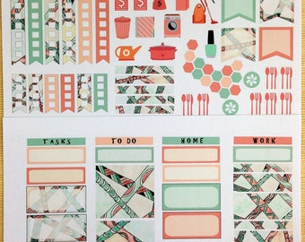 Zen 2017 Sedona Weekly Planner Stickers for IWP and most other planners