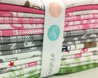 Fat Quarter Bundle, J is for Jeep Fabric, Riley Blake Designs