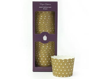 Baking Cups | Gold Crush Baking Cups | Premium Quality Paper Baking Cups | Snack Cups | Candy Cups | Party Supplies | The Party Darling