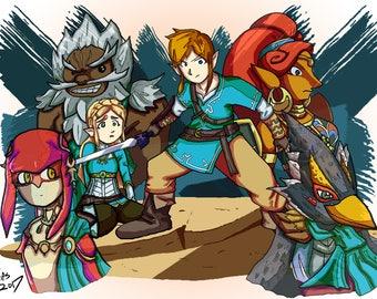 Zelda Breath of the wild print