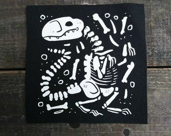 Dino Bones Sew On Canvas Patch