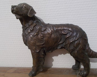 Beautiful Retriever Sculpture, Gundog Sculpture, French Dog  Sculpture,Bronze Retriever Sculpture, Christmas Gift , Birthday Gift