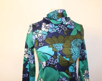 70s Psych bright maxi dress