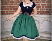 Haunted Mansion Ghost-ess Original Dark Green Cotton Deluxe Character Bounding Skirt in Size SMALL