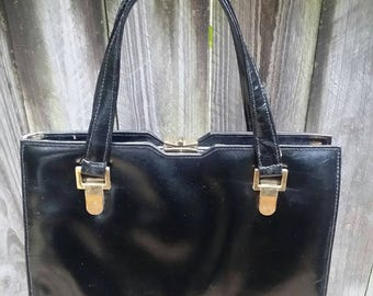 Vintage Black/Payton Leather/Ackery/English/Handbag