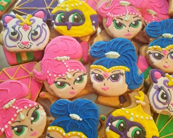 Shimmer and shine cookies (12)