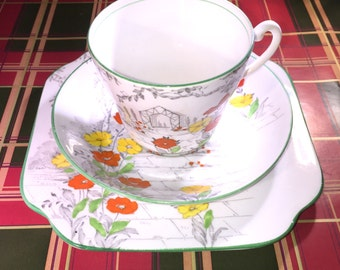 Osborne Fine Bone China Tea Cup Trio