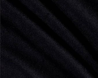 Black Baby Loop Terry Cloth fabric by the yard