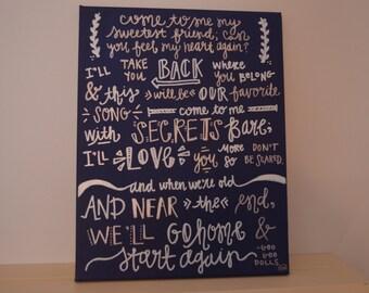 Come to Me (Goo Goo Dolls) Quote Board