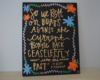 Great Gatsby Quote Board