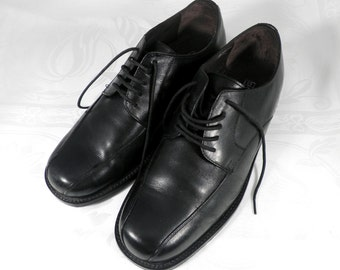 Mens Black Leather Sole Vintage  Shoes  Size S