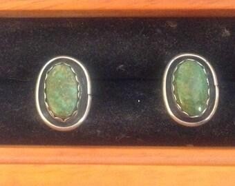Beautiful turquoise sterling silver earrings