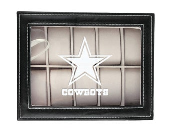 Dallas Cowboys Watch Box, Mens Watch Box, Watch Storage Case, Groomsmen Gift, Husband Gift, Dodgers, Red Sox, Yankees