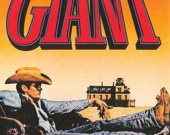 James Dean Giant   Rare Vintage Poster