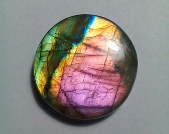 Beautiful Labradorite Round Shape Cabochon 28 MM