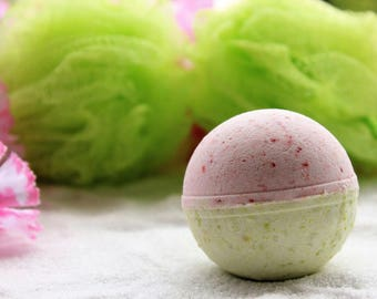 Sweet Pea Bath Bomb/Fizzy, Green & Pink