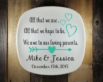 Parent Thank You Gift, All That We Are Wedding, Custom, Parent Wedding Gift Ideas, Parent Thank You Gift, Wedding Keepsake, Gift for Parent