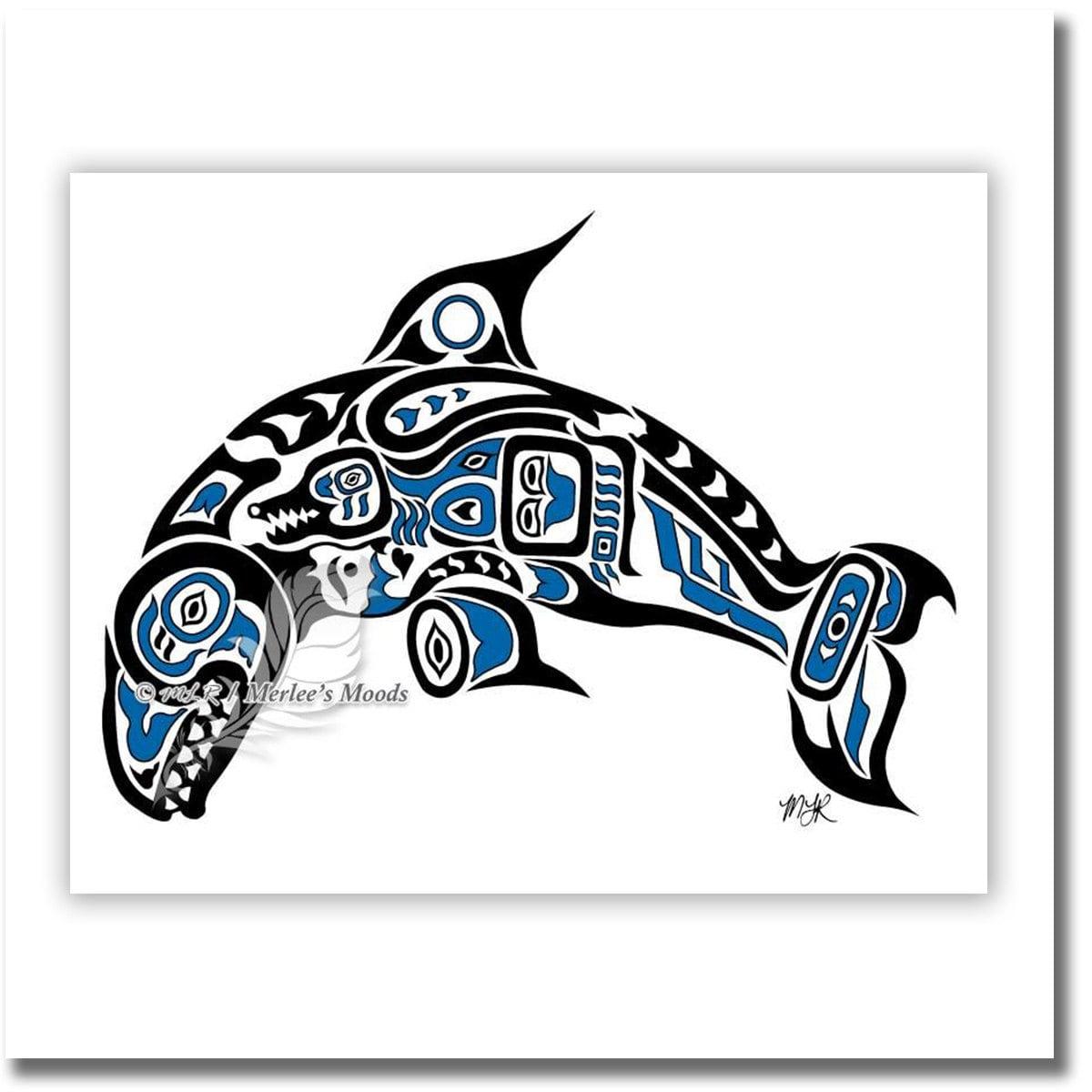 haida killer whale tlingit orca art printpacific northwest