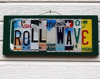 ROLL WAVE / Tulane University - custom license plate sign / alumni / tailgate / graduation gift