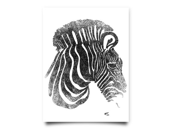Zebra Head Wall Decor : Items similar to zebra head wall art