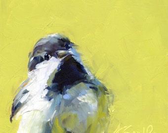 chickadee // wall art // print // bird print // bird art // giclee print