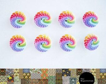 Rainbow Button Fridge Magnet Set