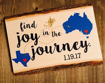 Find Joy In The Journey Wood Sign Home Decor Wall Decor Travel