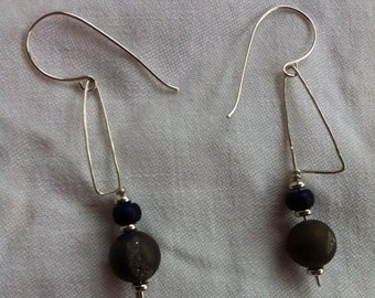 Great Geode Earrings with Howlite.