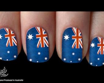 Australia Day Aussie Nail Art Sticker Water Transfer Decal 06