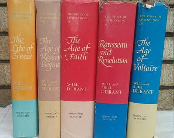 5 volumes of The Story Of Civilization
