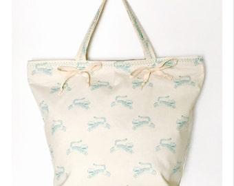 Leaping Tiger Tote Bag, Animal Print