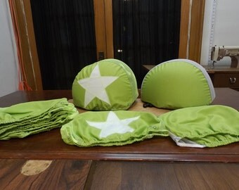 The Super Scrim Set!!!! Lime and White for Roller Derby Practice. Covers that are Breathable. Machine Washable.