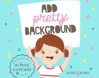 ADD-ON: Add a Pretty Background to your Custom Portrait