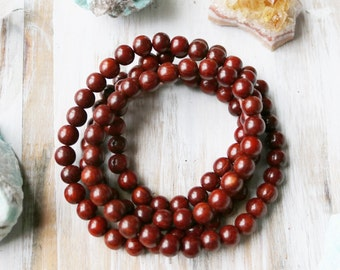 8mm Wood Beads, Red Sandalwood Beads, 8mm Beads, Red Sandalwood, Round Wood Beads, Wood Beads, Sandal Wood, 8mm Red Beads,