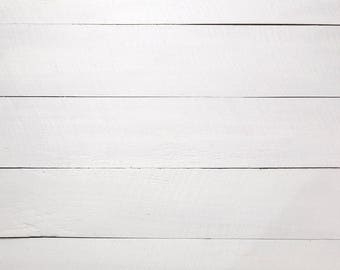 Vinyl Backdrop - Photography Backdrop - Product Photography - Wood Backdrop - White Wood Backdrop - 031-w - Print To Order - 2ft x 2ft