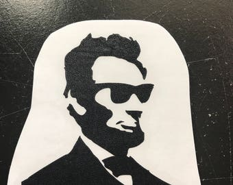 Cool hipster Abe Lincoln decal