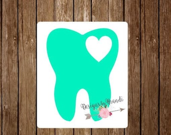 Dental Hygienist Decal // tooth decal // Dentist decal // laptop decal // Yeti Decal // Dental Assistant decal