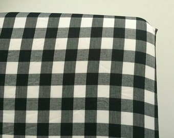 Black and white plaid fitted crib sheet