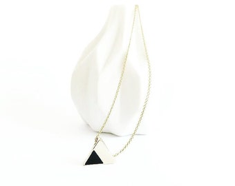 Gold Triangle Two Tone pendant