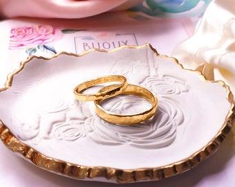 Custom Engraved Wedding ring, Wedding band, 9ct solid Gold ring, Gold Wedding ring, Custom Engraved 9ct Gold 2mm width ring.